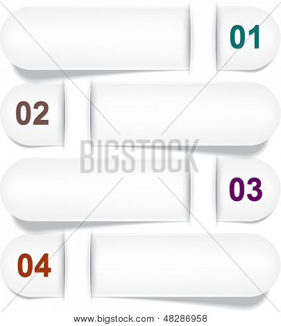 Vector illustration of numeric paper infographics template design. Eps10