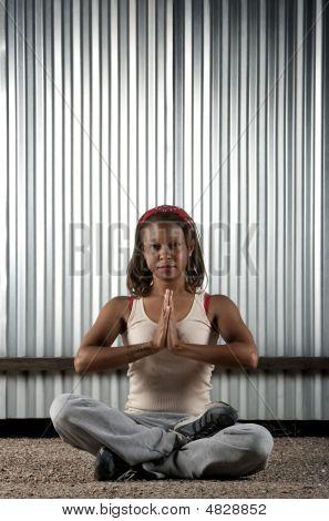 African-american Woman Meditating