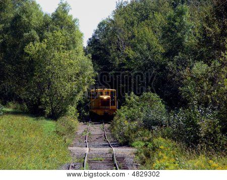 Vintage Train On Restored Tracks