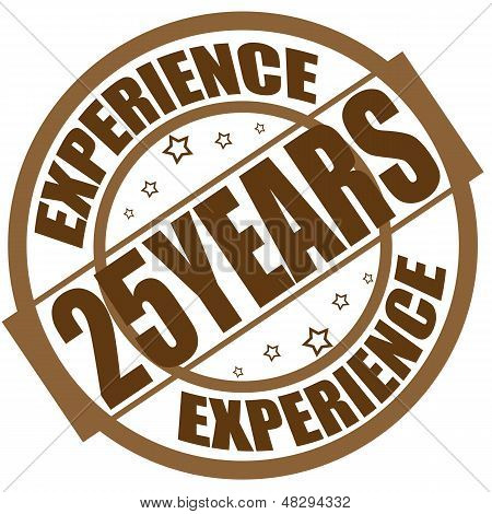 Experience 25 years