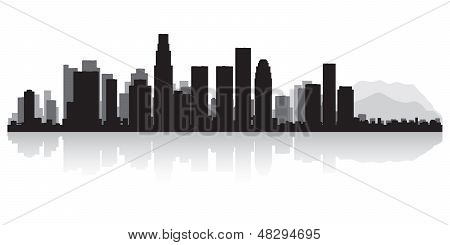 Los Angeles City Skyline Silhouette
