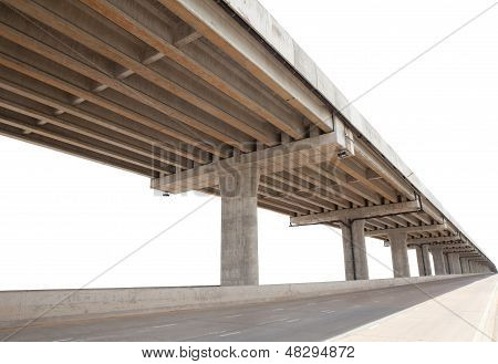 cement bridge infra structure isolated white background use for multipurpose