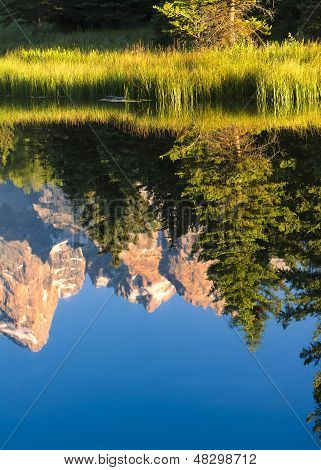 Reflections Of The Tetons On The Snake River At Schwabacher Landing