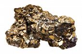 stock photo of pyrite  - pyrite mineral isolated on white background close up - JPG