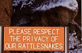 Warning Sign For Rattlesnakes