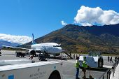 Air New Zealand plane landed in Queenstown, New Zealand