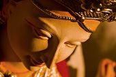 stock photo of pooja  - Maa durga idol in preparation for durga pooja - JPG