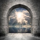 stock photo of gates heaven  - Way to new world - JPG
