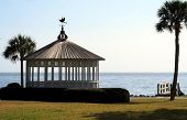 pic of gazebo  - White gazebo on St Simons Island Georgia - JPG