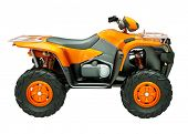 image of four-wheeler  - Sports quad bike isolated on a light background - JPG
