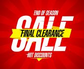 Final clearance sale design template