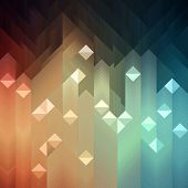 pic of spatial  - Shiny colorful mosaic background - JPG