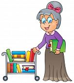 pic of librarian  - Image with librarian theme 1  - JPG