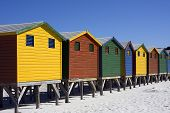 Colourful Muizenberg Beach Huts