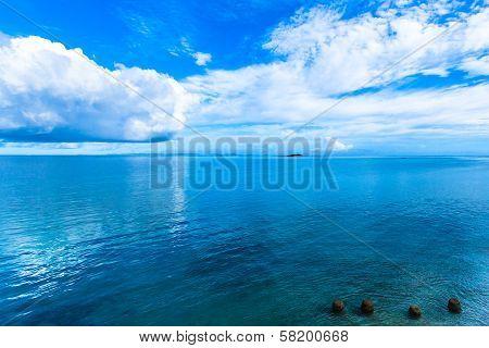 Blue sky, sea and four stones - Okinawa ocean