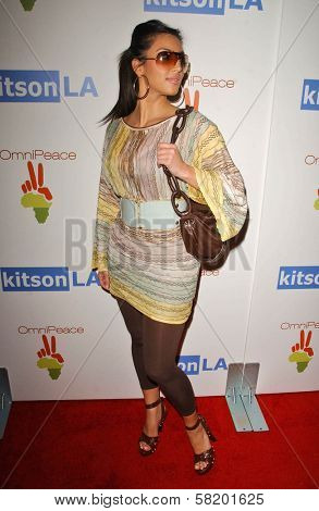 Kim Kardashian at the OmniPeace Benefit To Stop Extreme Poverty in Sub-Saharan Africa. Kitson Men, Los Angeles, CA. 06-21-07