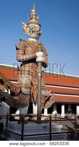 Demon Figure In Wat Phra Kaeo - Bangkok