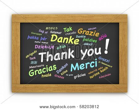 International Thank You Chalkboard