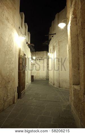 Souq Waqif At Night. Doha, Qatar