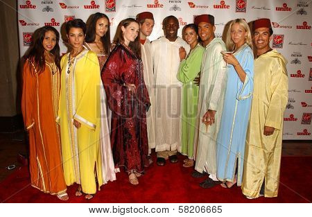 Claire Robinson, Nicole Lemoine, Lara La Rue, Britten Kelley, Lora Starkman and Jean-Pierre Vertus at Rock The Kasbah presented by Virgin Unite. Roosevelt Hotel, Hollywood, CA. 07-02-07