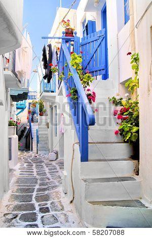Picturesque Greek lane