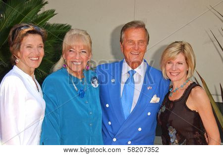 Cherry Boone and Shirley Foley Boone with Pat Boone and Debby Boone at the Ceremony honoring Mike Curb with a star on the Hollywood Walk of Fame. Vine St, Hollywood, CA. 06-29-07