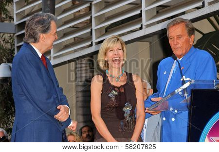Mike Curb with Debby Boone and Pat Boone at the Ceremony honoring Mike Curb with a star on the Hollywood Walk of Fame. Vine St, Hollywood, CA. 06-29-07