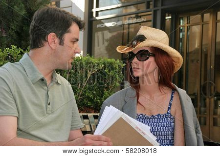 Phoebe Price and her attorney is issued a subpoena by ATT Wireless to obtain a private videotape from her RingPlus press conference. Kaje, Beverly Hills, CA. 07-02-07