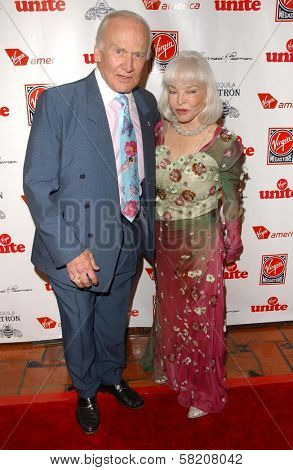 Buzz Aldrin and Lois Aldrin at Rock The Kasbah presented by Virgin Unite. Roosevelt Hotel, Hollywood, CA. 07-02-07