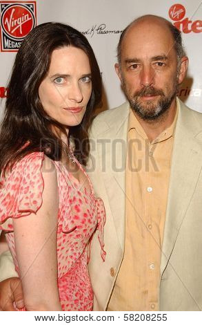 Sheila Kelley and Richard Schiff at Rock The Kasbah presented by Virgin Unite. Roosevelt Hotel, Hollywood, CA. 07-02-07