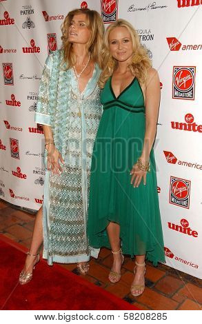 Mariel Hemingway and Jewel at Rock The Kasbah presented by Virgin Unite. Roosevelt Hotel, Hollywood, CA. 07-02-07