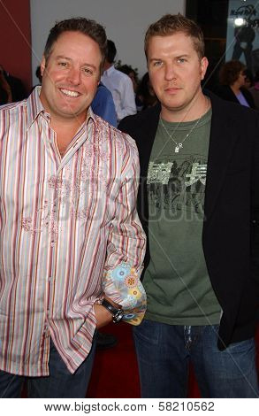 Gary Valentine and Nick Swardson at the World Premiere of