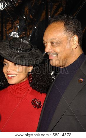 Victoria Rowell and Jesse Jackson at Ebony's Pre-Oscar Celebration