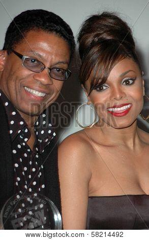 Herbie Hancock and Janet Jackson at Ebony's Pre-Oscar Celebration