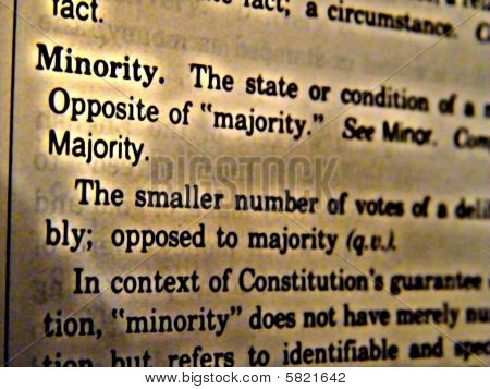 Dictionary Minority