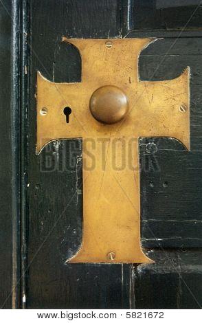 Cross Doorknob
