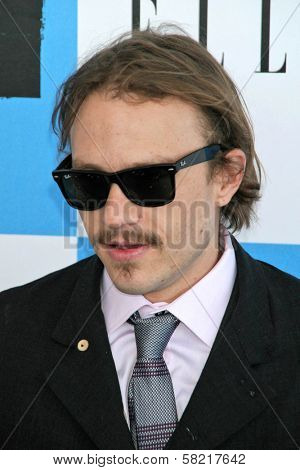Heath Ledger at the 2007 Film Independent's Spirit Awards. Santa Monica Pier, Santa Monica, CA. 02-24-07