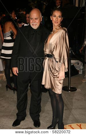 Rene Angelil and Celine Dion at the 2007 Vanity Fair Oscar Party. Mortons, West Hollywood, CA. 02-25-07
