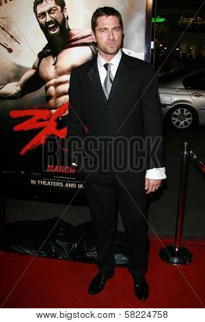Gerard Butler at the Los Angeles premiere of