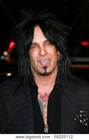 Nikki Sixx at the Los Angeles premiere of
