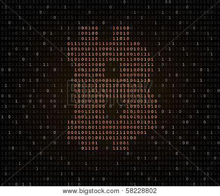 Bitcoin symbol binary code