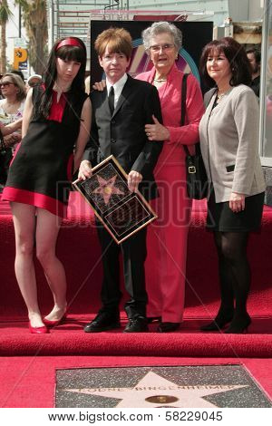 Crystal Nichols and Rodney Bingenheimer with Zelda Bingenheimer and Sharon McDonald at the Hollywood Walk of Fame Ceremony Honoring Rodney Bingenheimer. Hollywood Boulevard, Hollywood, CA. 03-09-07