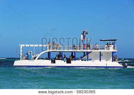 Diving boat in Punta Cana, Dominican Republic