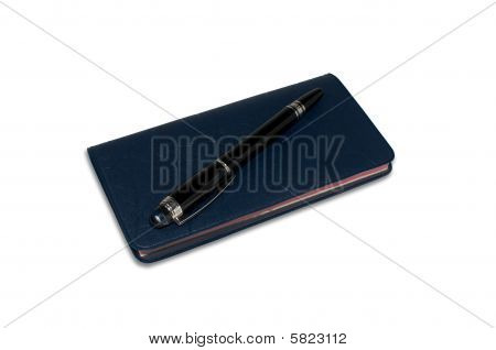 Checkbook With Personal Checks And A Pen