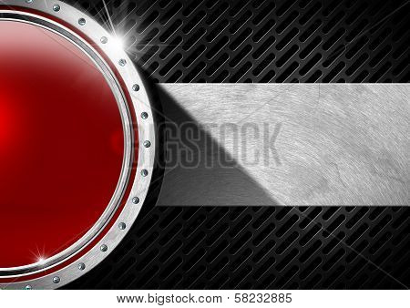 Red And Metal Abstract Background