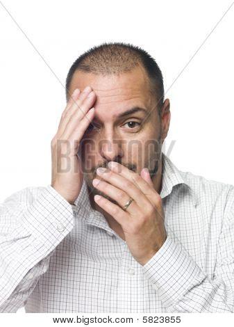 Portrait of a chocked man