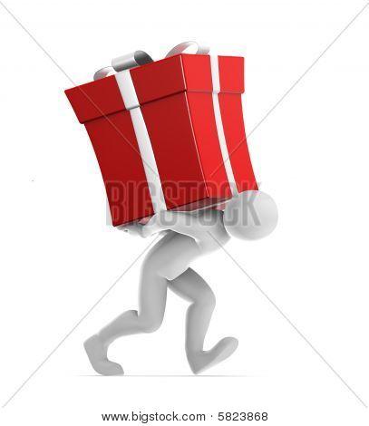 Joe Carrying Gift