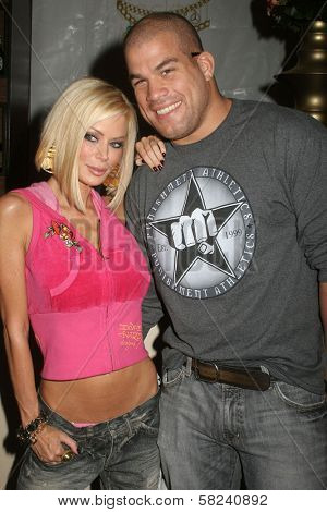 Jenna Jameson and Tito Ortiz at day two of the 2007 Mercedes-Benz Fashion Week Fall Collection. Smashbox Studios, Culver City, CA. 03-19-07