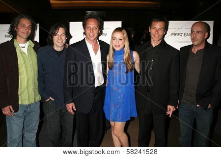 Hawk Ostby, Mark Fergus, William Fichtner, Piper Perabo, Guy Pearce and Bob Yari at the Los Angeles premiere of