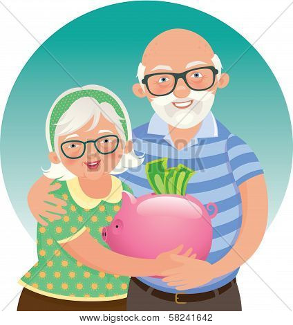 Elderly Couple Retired